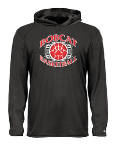 Brookings Bobcat Basketball B-Core Adult Long Sleeve Hooded T-Shirt - 4105 - Design BB003