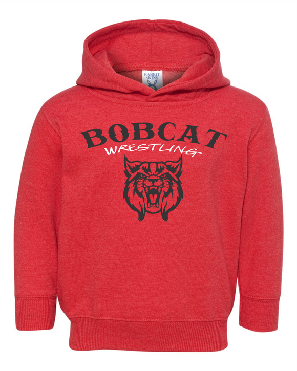 Bobcat Wrestling Toddler Pullover Fleece Hoodie - 3326 - Design BHS09WR