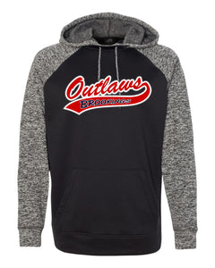 Outlaw Softball - UNISEX - J. America - Colorblock Cosmic Fleece Hooded Pullover Sweatshirt - 8612