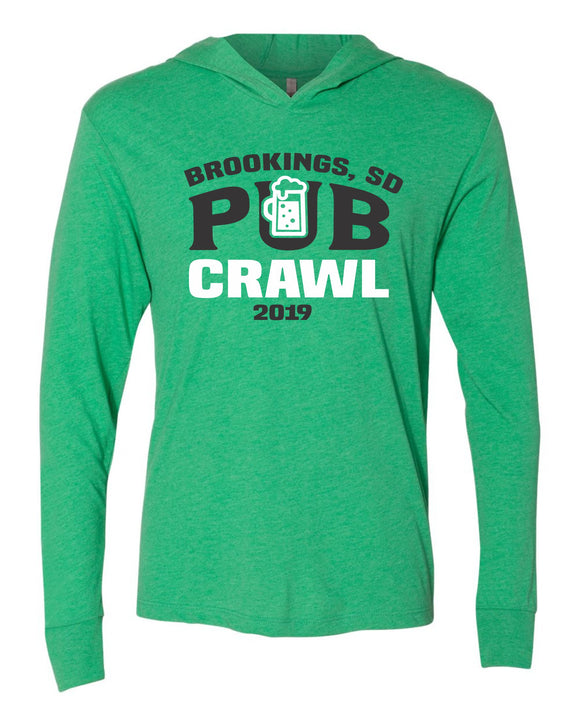 Pub Crawl 2019 - Next Level - Unisex Triblend Hooded Tee - 6021