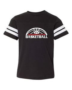 Brookings Bobcat Basketball - Youth Football Fine Jersey Tee - 6137 - Design BB007