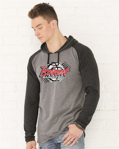 Brookings Bobcat Basketball - LAT - Fine Jersey Long Sleeve Hooded Raglan T-Shirt - 6917 - DESIGN BB004