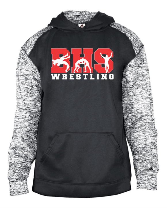 Bobcat Wrestling Adult Sport Blend Performance Hooded Sweatshirt - 1462 - Design BHS10WR
