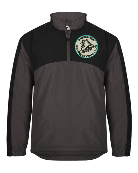 Brookings Figure Skating Club - Badger - Contender Quarter-Zip Jacket - 7644