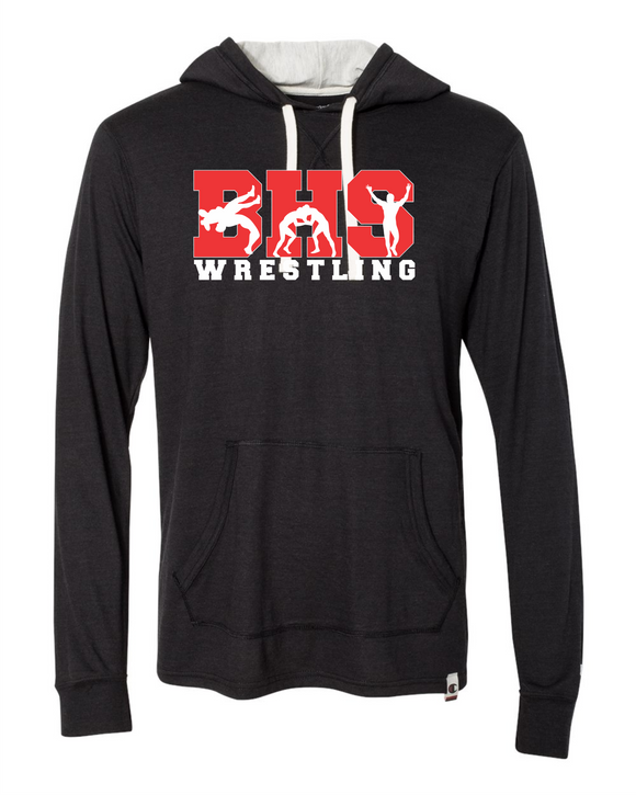 Bobcat Wrestling Adult Originals Triblend Hooded Pullover - AO100 - Design BHS10WR