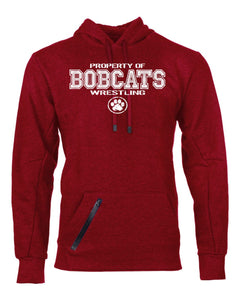 Brookings HS Wrestling Womens Cotton Rich Hooded Pullover Sweatshirt - 82HNSM -  Design BHS01