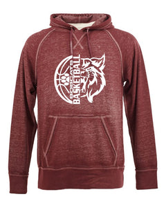 Brookings Bobcat Basketball  - Vintage Zen Fleece Hooded Pullover Sweatshirt - 8915 - Design BB006