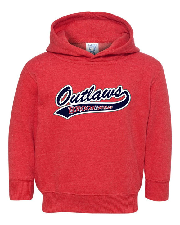 Outlaw Softball - TODDLER - Rabbit Skins - Pullover Fleece Hoodie - 3326