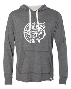 Brookings Bobcat Basketball - Originals Women's Triblend Hooded Pullover - AO100 - Design BB006