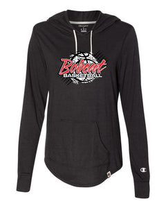 Brookings Bobcat Basketball - Originals Women's Triblend Hooded Pullover - AO150 - DESIGN BB004