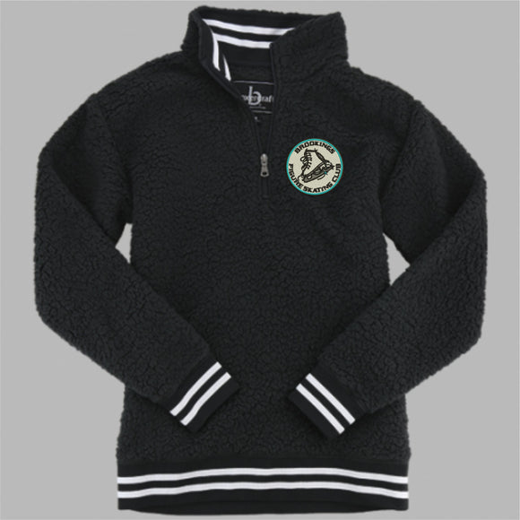 892596c52a0114 Brookings Figure Skating Club - Embroidered Varsity Sherpa - Q20