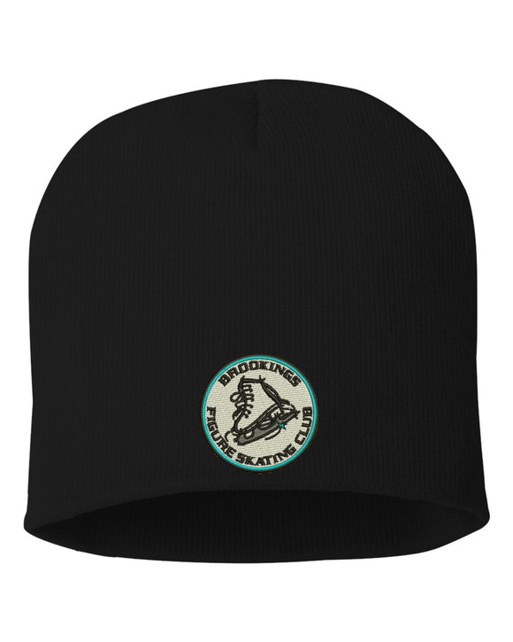 4d55a00842c628 Brookings Figure Skating Club - Embroidered Sportsman - 8 Inch Knit Beanie  - SP08