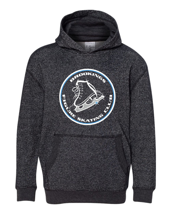 ****AMAZING SPARKLE in this HOODIE**** Brookings Figure Skating Club - Womens Glitter French Terry Hooded Pullover - 8860