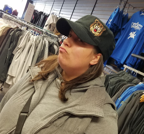 Sassy Womens Fit Bobcat Hat -  Distressed Military Hat - Otto #62-792