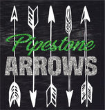 GLITTER Pipestone Arrow INFANT Short  Sleeved Black Tee Shirt - #3322