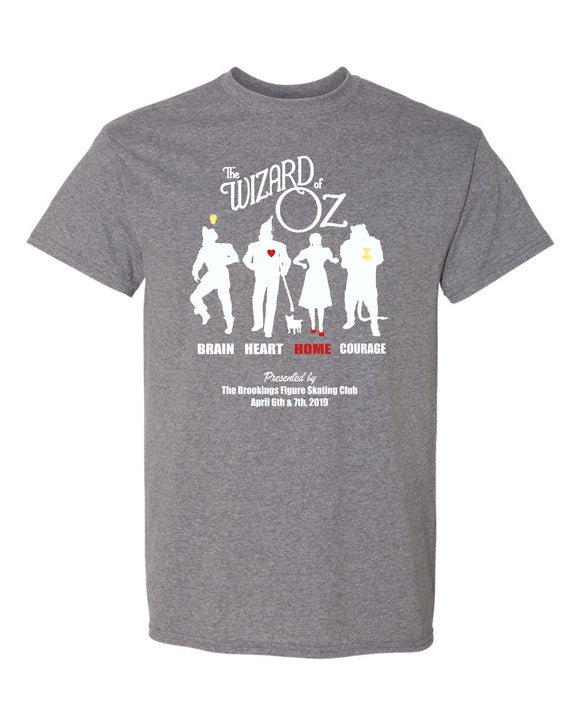 Wizard of Oz Show - SHORT SLEEVE TEE - Graphite Heather