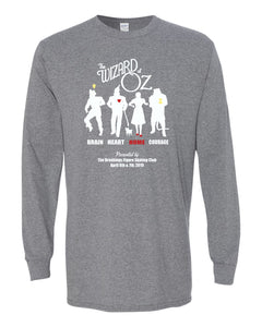 Wizard of Oz Show - LONG SLEEVE TEE - Graphite Heather