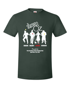 Wizard of Oz Show - SHORT SLEEVE TEE - Forest Green