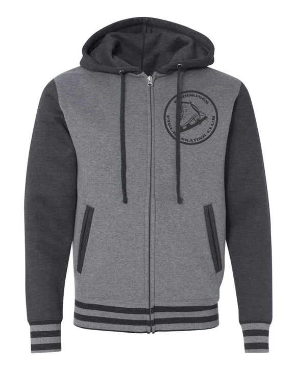Brookings Figure Skating Club - Independent Trading Co. - Unisex Varsity Hooded Full-Zip Sweatshirt - IND45UVZ