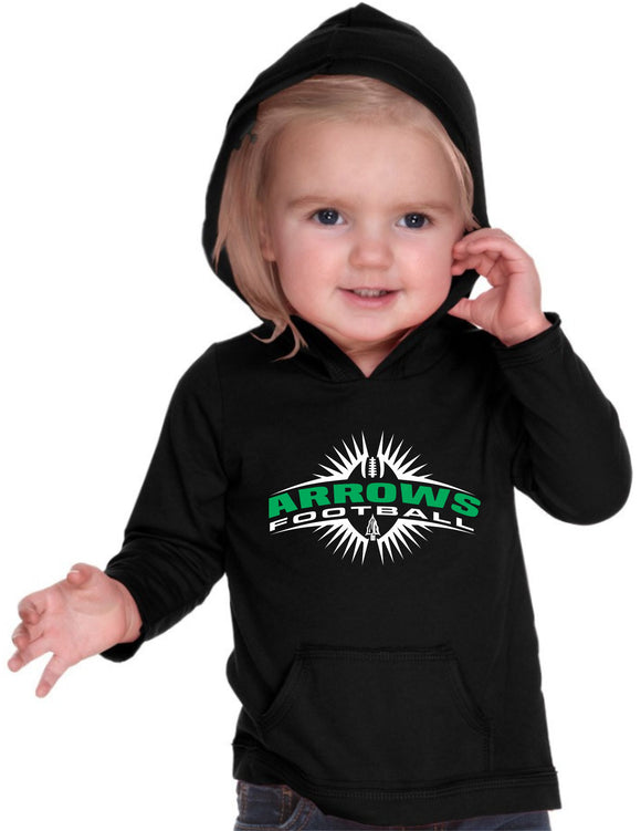 Pipestone Arrow INFANT Football Long Sleeved Hooded Tee - PHS02