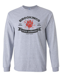 Brookings HS Swim Club 2019 LONG SLEEVE Tees - Gildan - Ultra Cotton T-Shirt - 2400 Adult / 2400B Youth