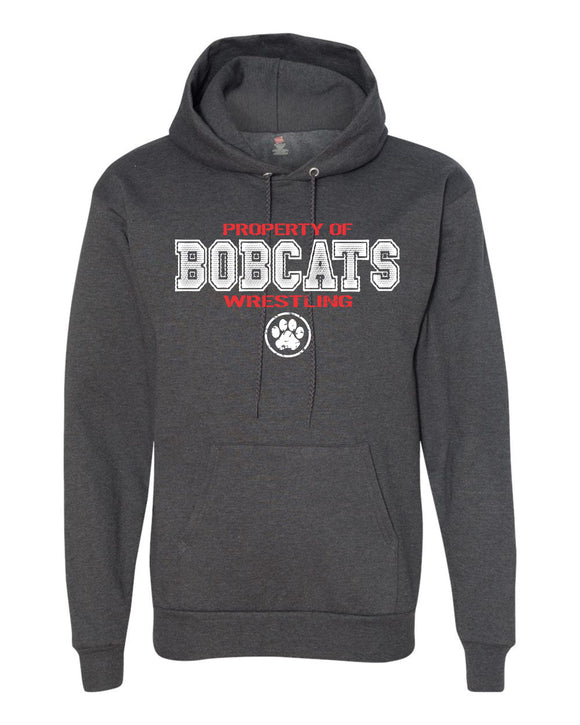 Brookings HS Wrestling Adult Hanes - Ecosmart Hooded Sweatshirt - P170 - Design BHS01