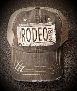 Rodeo Girl Cap - Herringbone Unstructured Trucker Cap - 6990