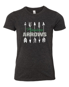 GLITTER Pipestone Arrows GIRLS Tee - Bella Canvas #3413Y