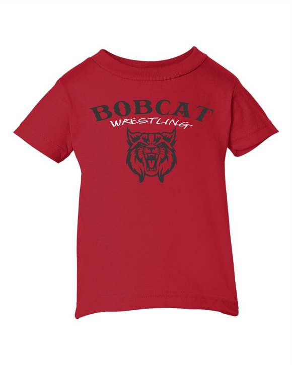 Bobcat Wrestling Infant Cotton Jersey Tee - 3401 - Design BHS09WR
