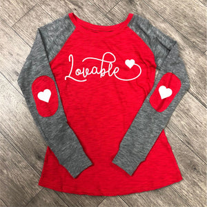 Valentines Day - Lovable - Boxercraft - Women's Preppy Patch Slub T-Shirt - T66
