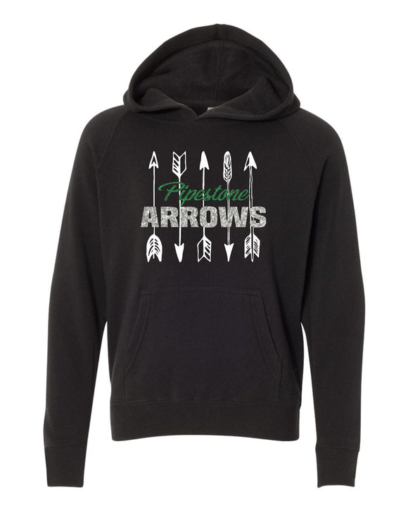GLITTER Pipestone Arrows Youth Hooded Pullover - Independent Co PRM15YSB