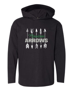GLITTER Pipestone Arrows Long Sleeve Hooded Tee  - Anvil 987B