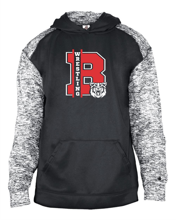 Bobcat Wrestling Sport Blend Youth Hood - 2462 - Design 1001