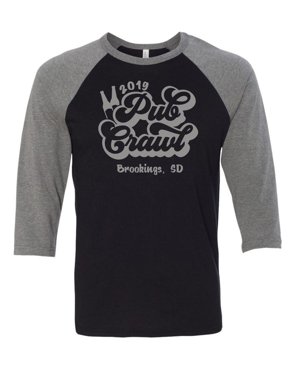 Pub Crawl - Bella Canvas 3/4 Sleeve Raglan -  3200