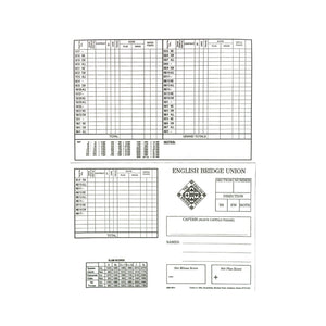 Personal Scorecards - 49 Boards - EBU0011