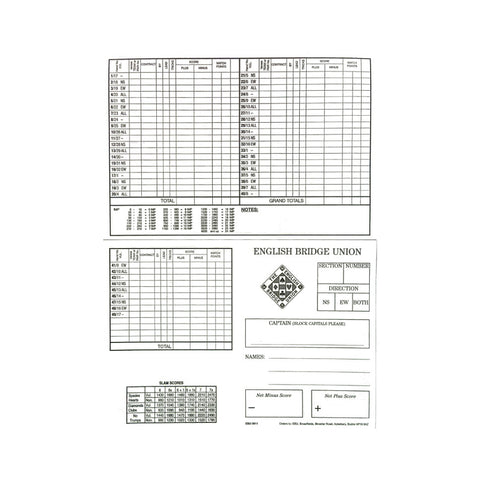 Personal Scorecards - 49 Boards - OFFER
