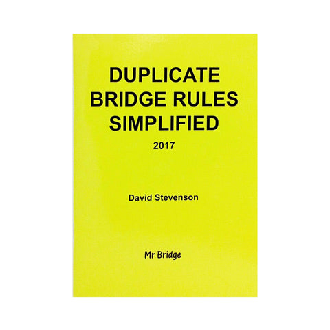 Duplicate Bridge Rules Simplified