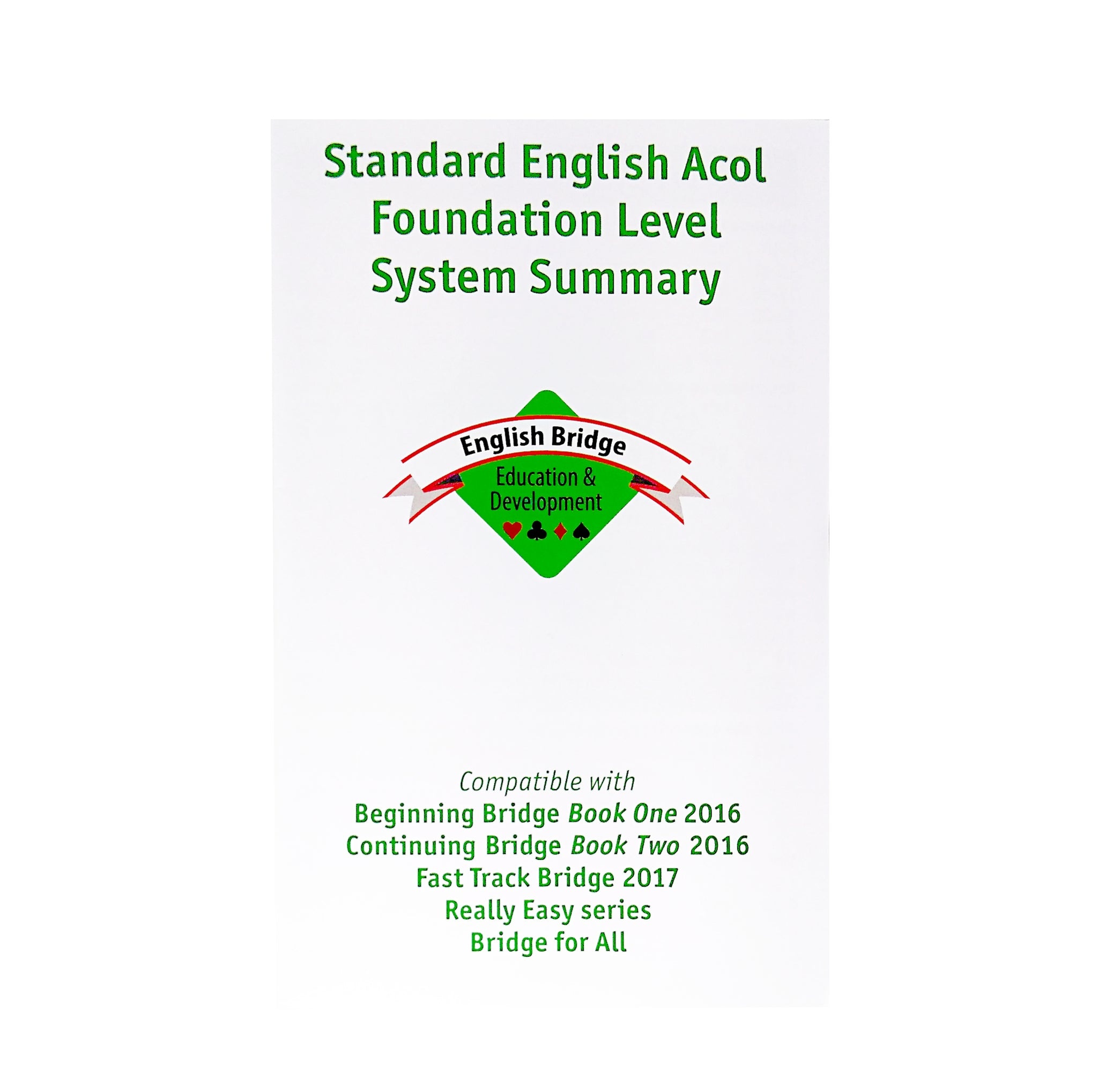 Standard English System Summary Card - 2017