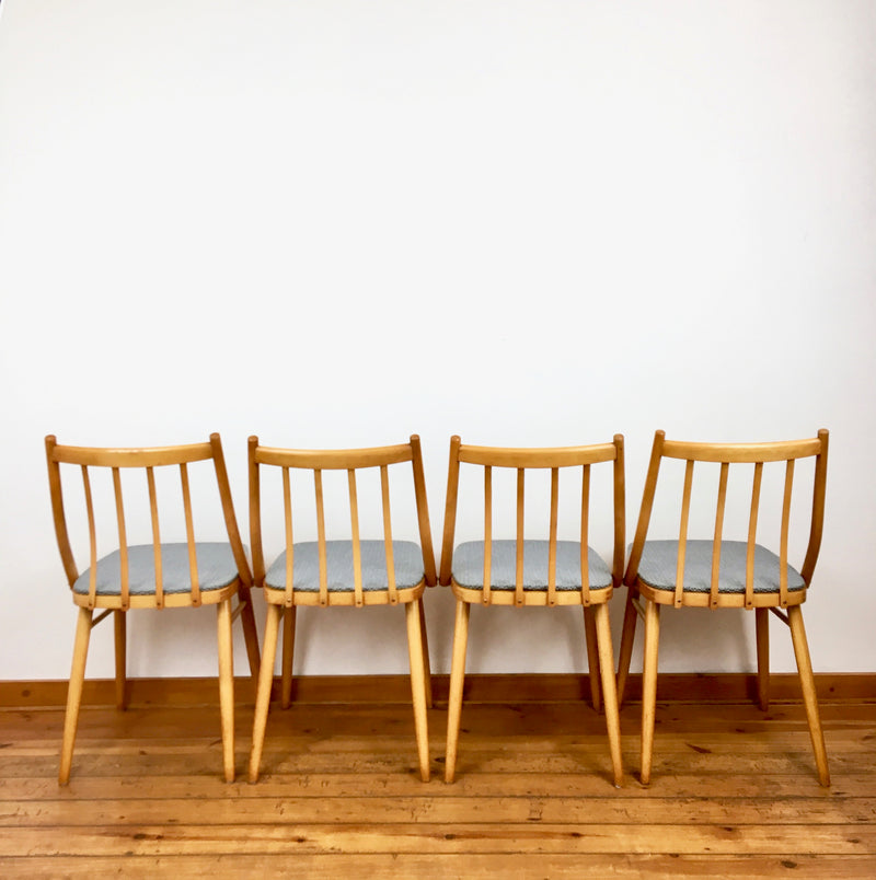 'TON' dining chairs - set of 4 - 1960's