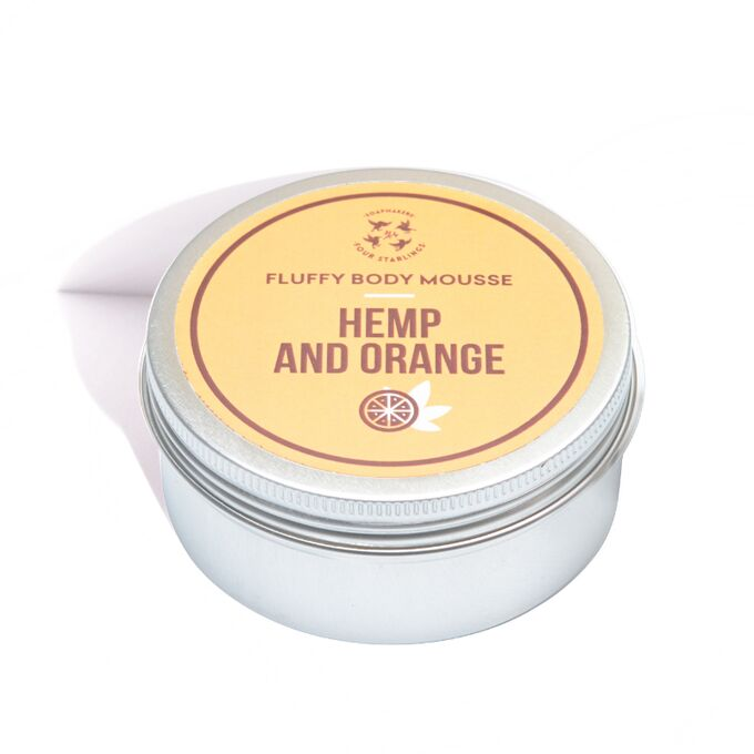 Body mousse - orange & hemp