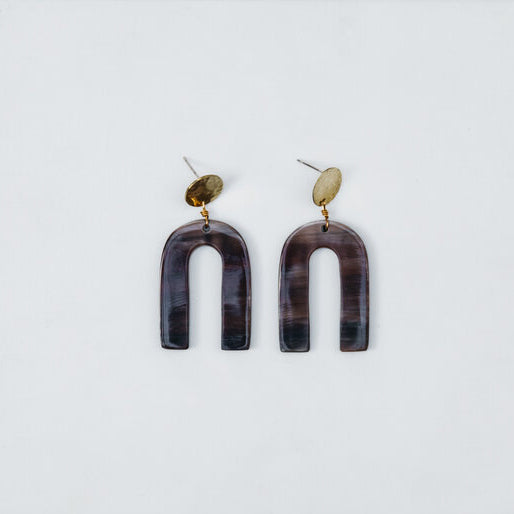 Bravery Studs - Brown/Dark mix