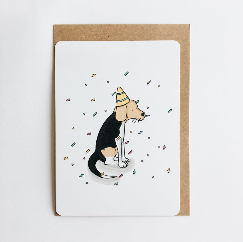 Postkaart 'Birthday card - dog'