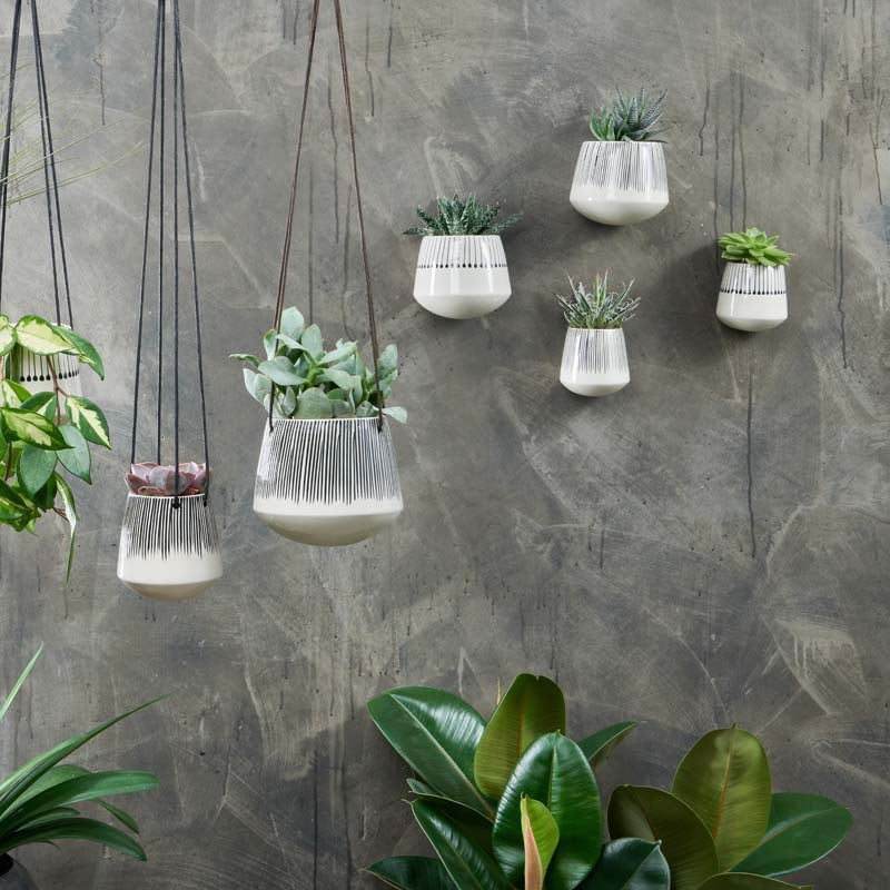 matamba ceramic wall hung planter