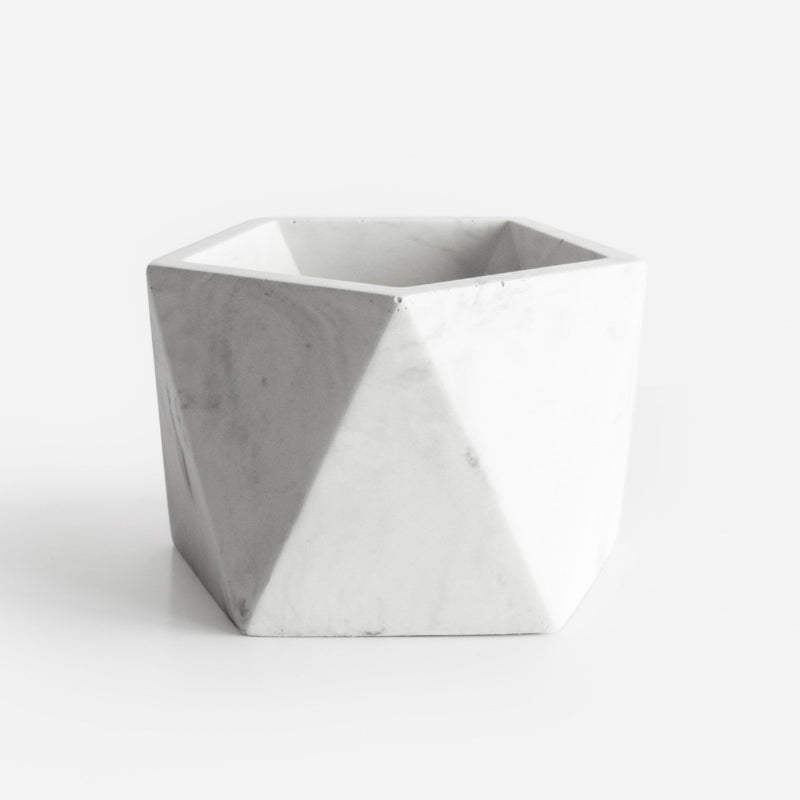 Potje 'Mare' (large) - White Marble