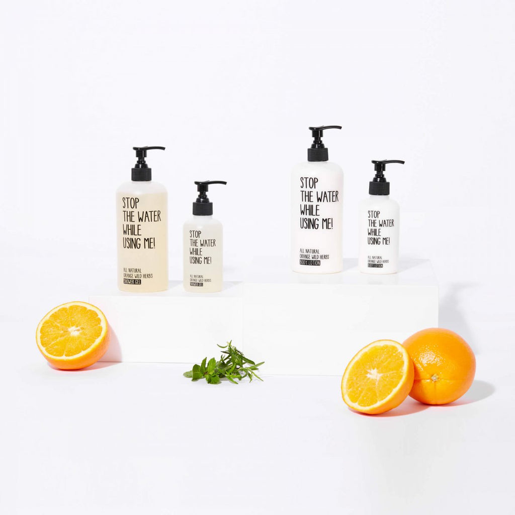 Douchegel & Bodylotion 'Orange wild herbs' + gratis etui