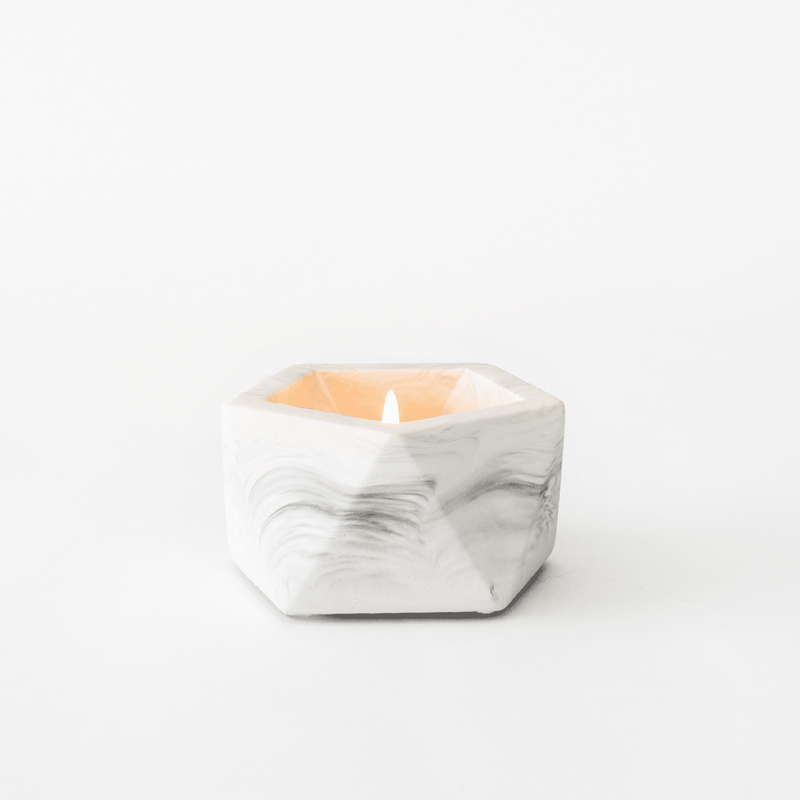 Potje 'Vand' (small) - White Marble
