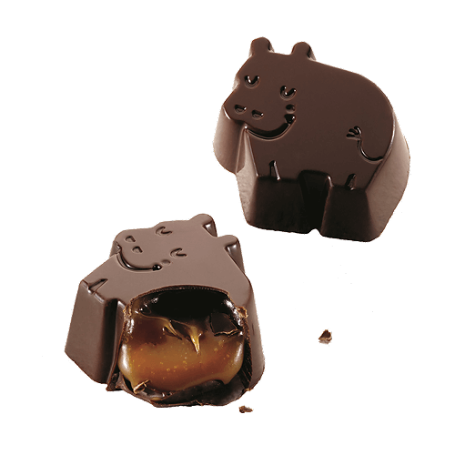 Dreamy Hippos Dark Chocolate Sea Salt Caramel - Barú