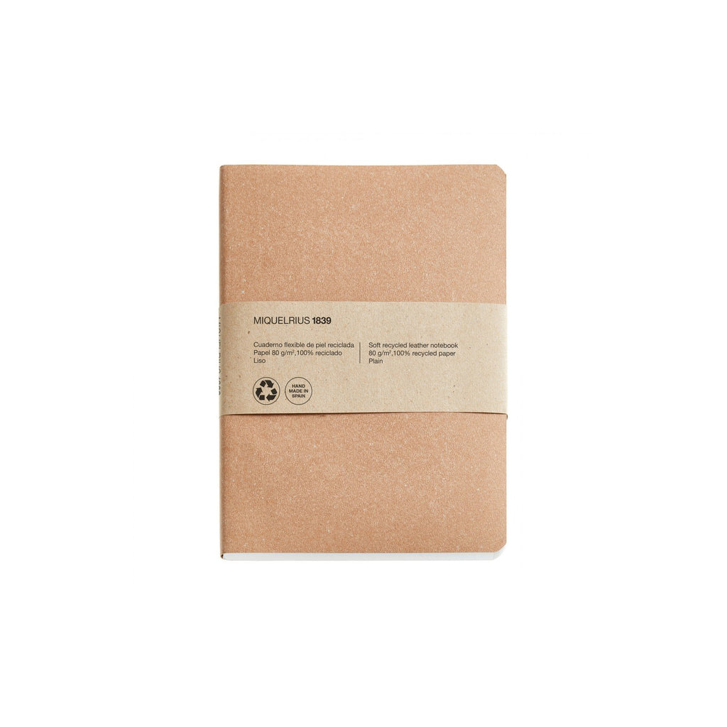 Soft Recycled Leather Notebook A6 & A5 - Kraft
