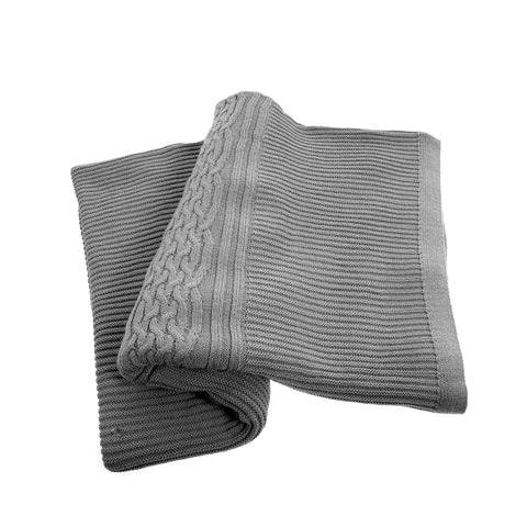 Grey Holland throw