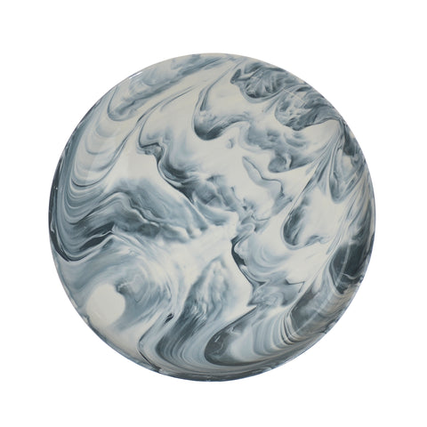 Swirl marble dinner plate - grey